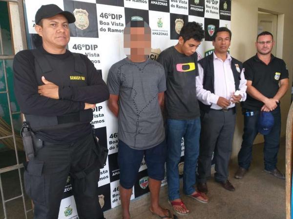 Polícias Civil e Militar prendem jovens em Boa Vista do Ramos