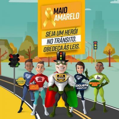 Maio Amarelo: atitudes responsáveis no trânsito, salvam vidas