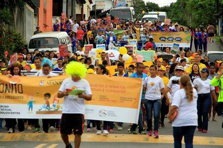 Caminhada contra o abuso e à exploração sexual infantojuvenil percorre as ruas da zona Sul