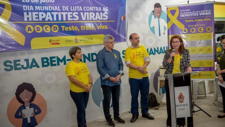 Lançada em Manaus a campanha contra hepatites virais 'Julho Amarelo'