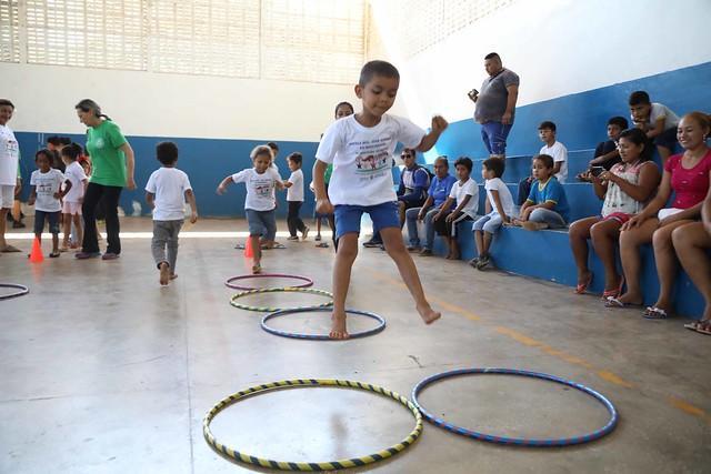 Escolas ribeirinhas recebem pela primeira vez o Festival Olímpico da educação infantil