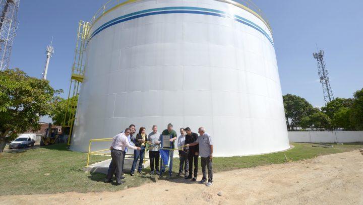 Reservatório de água tratada beneficia 200 mil moradores das zonas Norte e Centro-Oeste