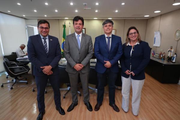 Em Brasília, ministro da Saúde garante a Wilson Lima apoio para ampliar investimentos no Amazonas