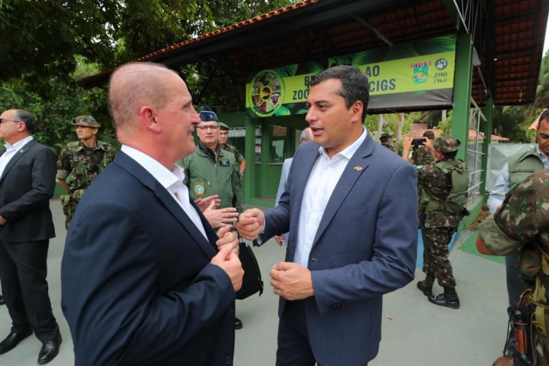Wilson Lima acompanha ministros em visita ao Centro de Instrução de Guerra na Selva