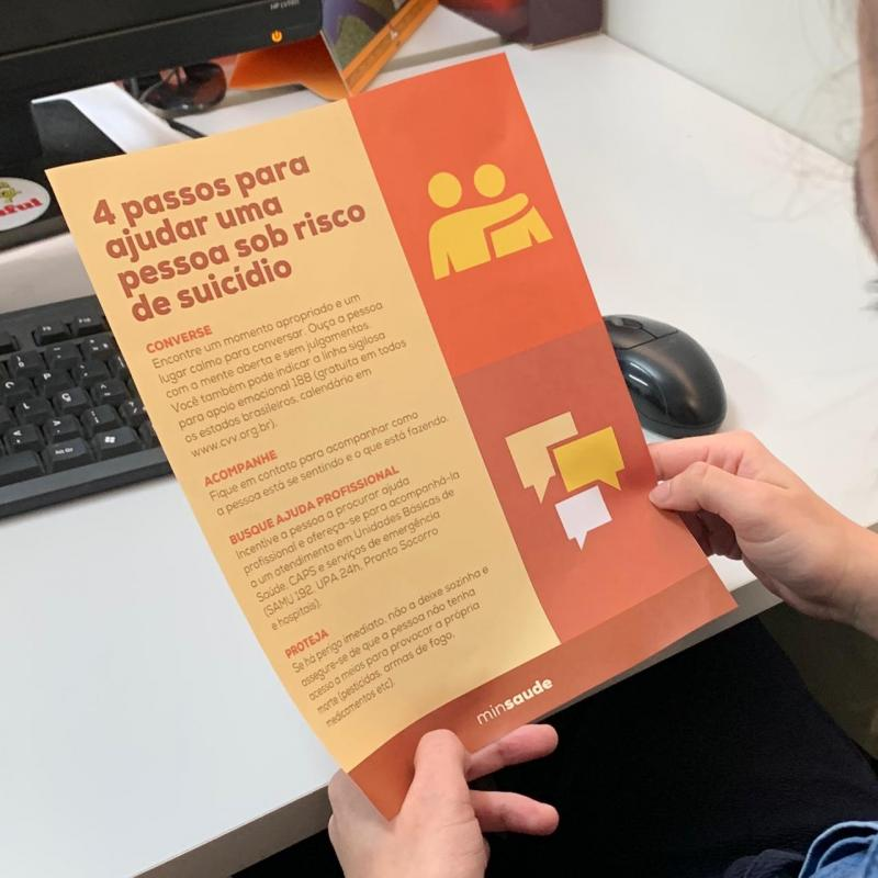 Setembro Amarelo: Sejusc realiza palestras e rodas de conversa em alusão ao Mês Mundial de Prevenção ao Suicídio