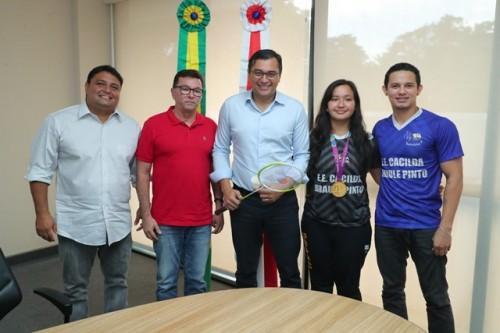 Wilson Lima recebe paratletas medalhistas no Parapan-Americano de 2019