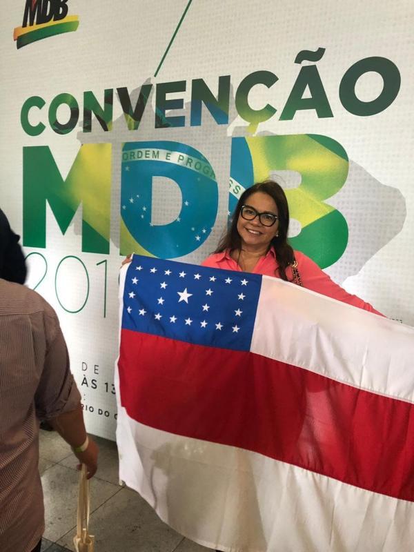 Marcia Baranda participa de convenção em Brasília que escolheu presidente nacional do MDB