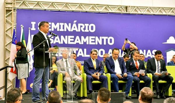 Josué Neto agradece compromisso da Funasa de melhorar taxas de saneamento do AM
