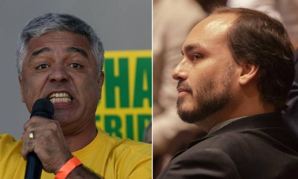 Carlos Bolsonaro chama Major Olímpio de 'bobo da corte', e senador rebate: 'Moleque'
