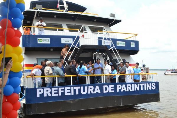 Prefeitura de Parintins inaugura UBS Fluvial Lígia Loyola e Odontomóvel
