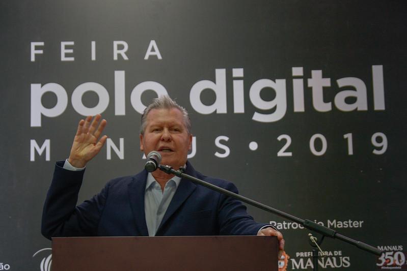 Prefeito Arthur Virgílio Neto apresenta gestão 4.0 na Feira do Polo Digital