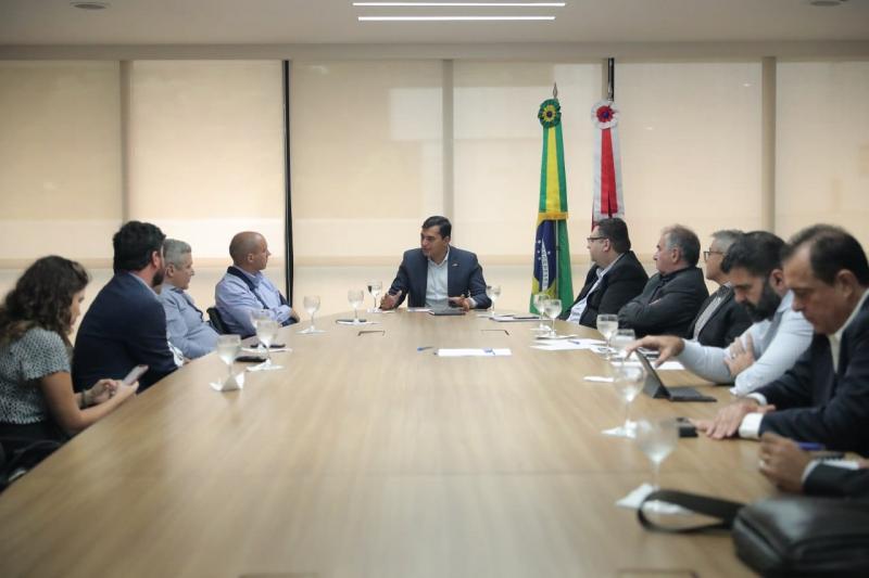 Wilson Lima participa da cerimônia que marca o início das obras para produção de gás no Campo do Azulão
