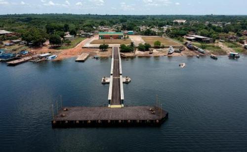 Em Maués, novo porto será inaugurado em novembro, diz ministro da Infraestrutura