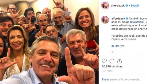 Repúdio a Fernández por  'Lula Livre'aprovado na Comissão de Relações Exteriores Câmara