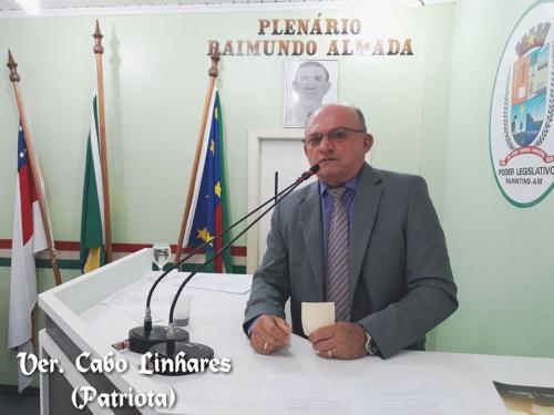 Cabo Linhares também cobra transparência e prestação de contas Telo Pinto na presidência da Câmara