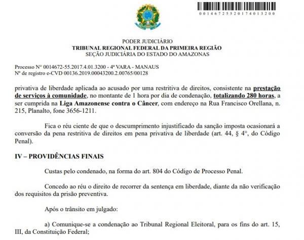 Ex-prefeito Alexandre da Carbrás é condenado na Justiça Federal pelo desvio de 1,5 milhão do FNDE, ele recorre  da sentença em liberdade