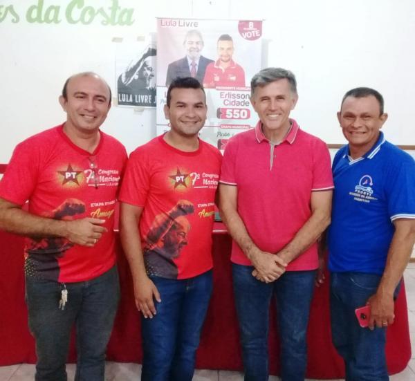 Juscelino Manso do PSB participa da posse do novo presidente do PT em Parintins