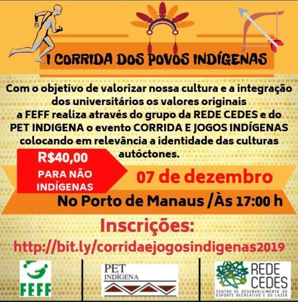 I Corrida dos Povos Indígenas está com inscrições abertas até dia 5 de dezembro