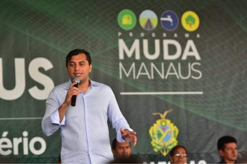 Wilson Lima anuncia revitalização do CPA Norte/27° DIP e visita Peixe no Prato, durante o Muda Manaus