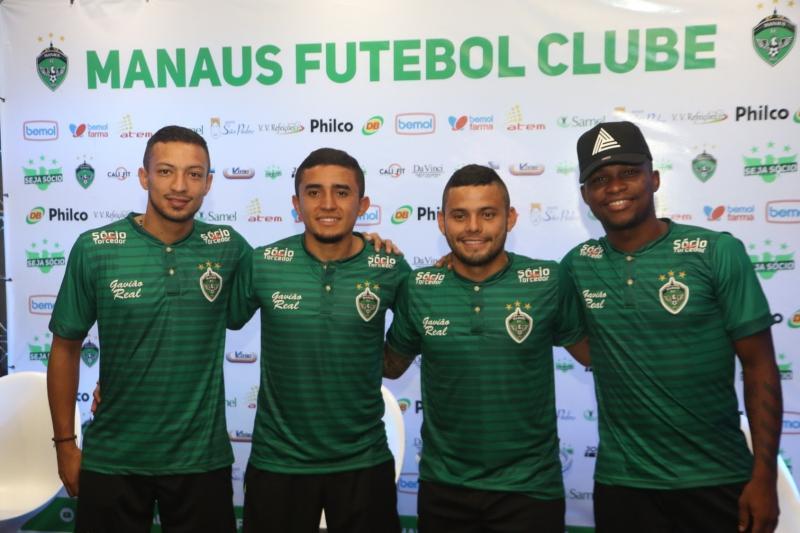 Manaus FC apresenta elenco, com jogadores Colombianos e novos patrocinadores