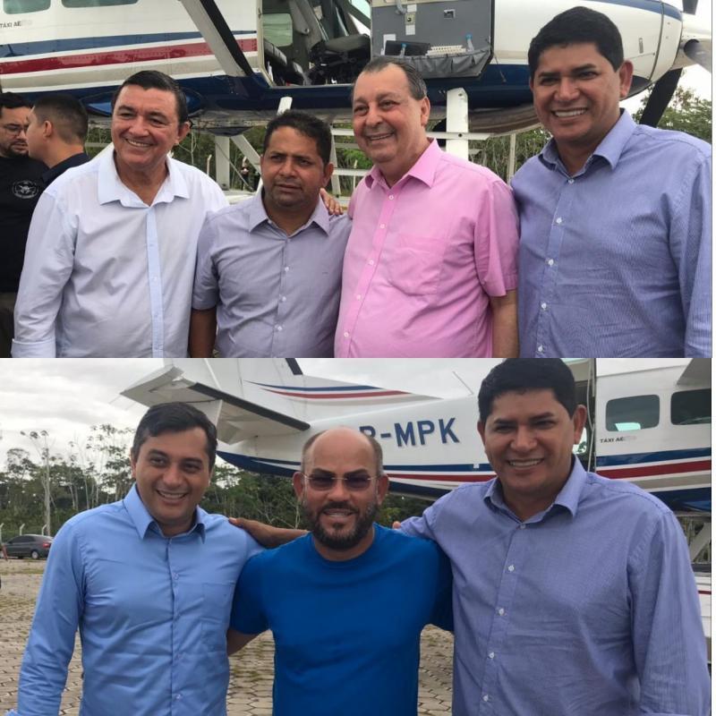 Convidado de Wilson e Omar, Bi e outros prefeitos prestigiam assinatura de convênio em Itacoatiara