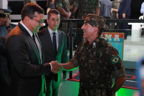 Governador Wilson Lima reforça parceria com órgãos federais durante passagem de comando do CMA