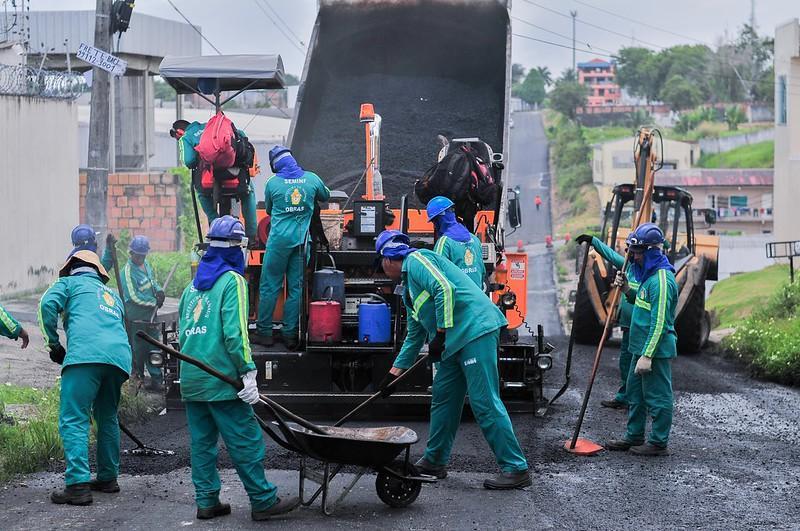 Grandes corredores da Cidade Nova em Manaus são recapeados