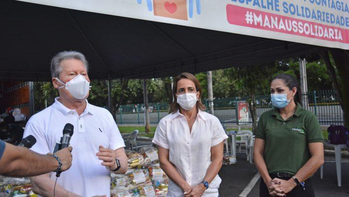 Campanha #ManausSolidária recebe doação de 2 mil cestas básicas do Grupo Transire