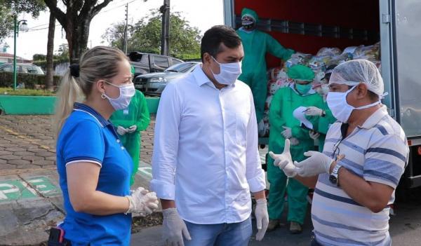 Governador Wilson Lima participa de entrega de cestas básicas para instituições