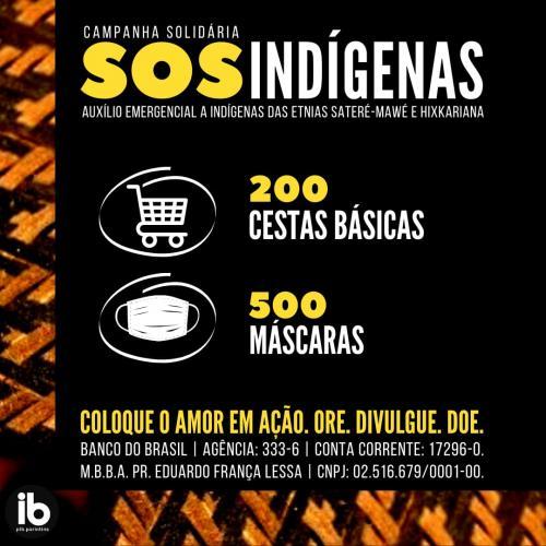 Primeira Igreja Batista de Parintins lança campanha solidária para ajudar indígenas