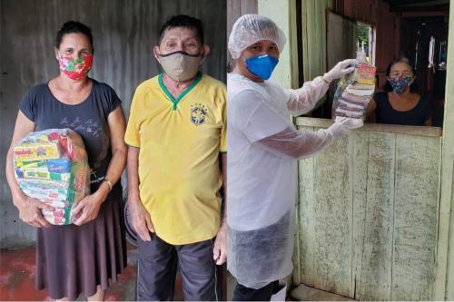 Prefeitura de Parintins entrega cesta básica para famílias em isolamento por conta do coronavírus