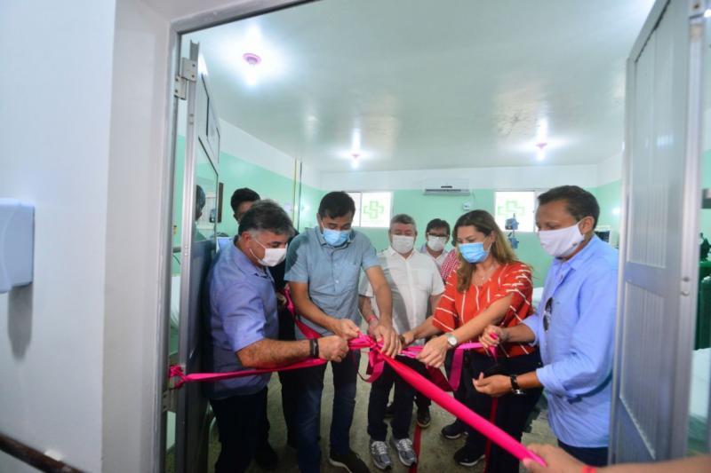 Wilson Lima entrega Unidades de Cuidados Intermediários e insumos de saúde em Lábrea
