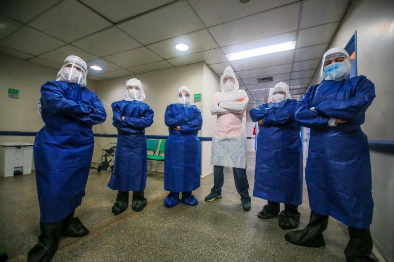 Covid-19: Profissionais do programa 'Brasil Conta Comigo' começaram a atuar no Hospital e Pronto-Socorro Platão Araújo