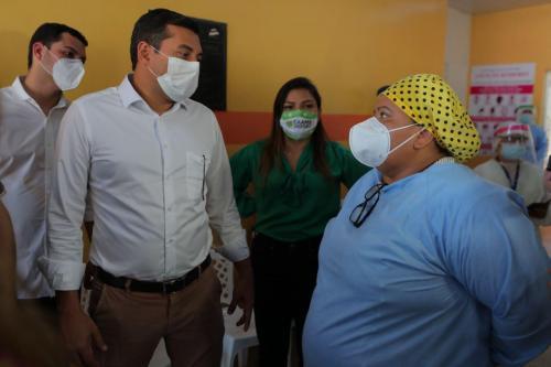 Governador Wilson Lima reafirma em Parintins que momento é de proteger vidas e fortalecer sistema de saúde