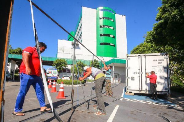 Susam começa desmontar e retirar câmaras frigoríficas instaladas em hospitais durante pico da pandemia no AM