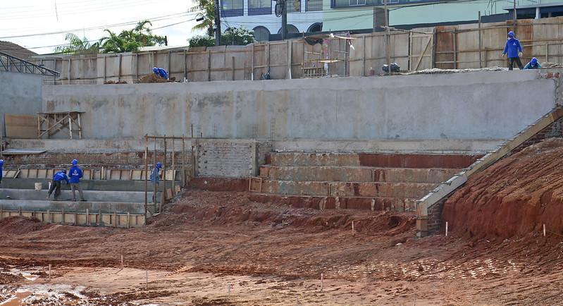 Obras do velódromo de Manaus chegam a 50% de conclusão