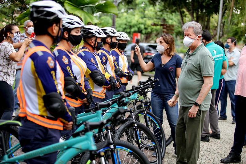 Espaços públicos terão patrulha da guarda municipal em bicicletas