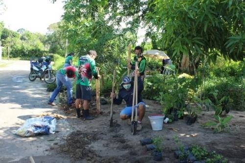 Grupo Rally Ambiental faz Ação de Arborização e Jardinagem no João Novo