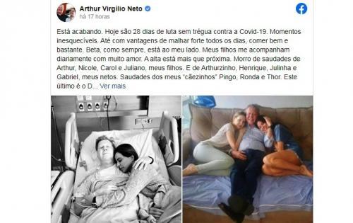 Arthur Neto: Vou sair mais forte do que antes de a Covid me alcançar