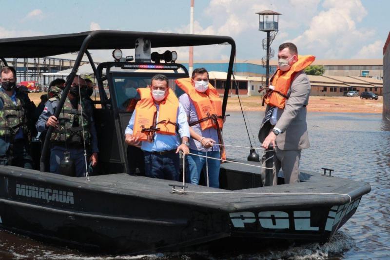 Wilson Lima inaugura Base Arpão para reforçar combate ao narcotráfico no Solimões