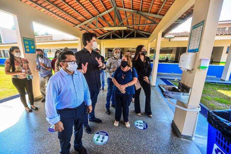 Deputados fiscalizam escolas de Manaus para retorno às aulas presenciais na segunda (10/08)