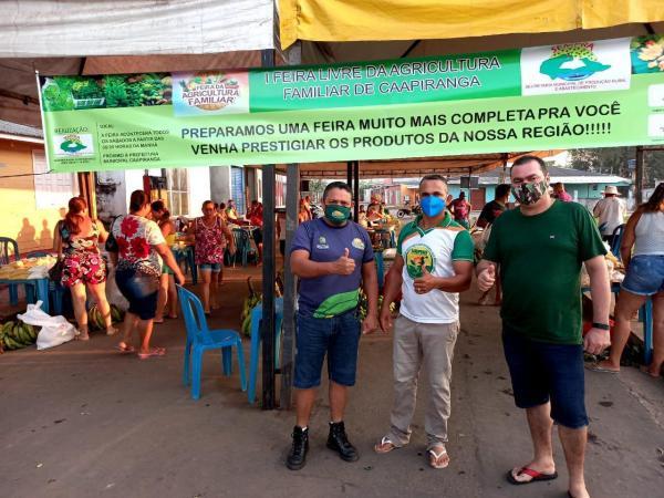 Governo do Estado, por meio do Idam, apoia feira da agricultura familiar em Caapiranga