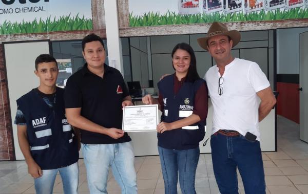 Adaf registra segunda revenda para a comercialização de agrotóxicos em Boca do Acre