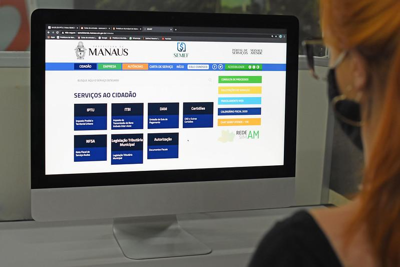 Prefeitura de Manaus fez mais de 84 mil atendimentos tributários on-line durante a pandemia