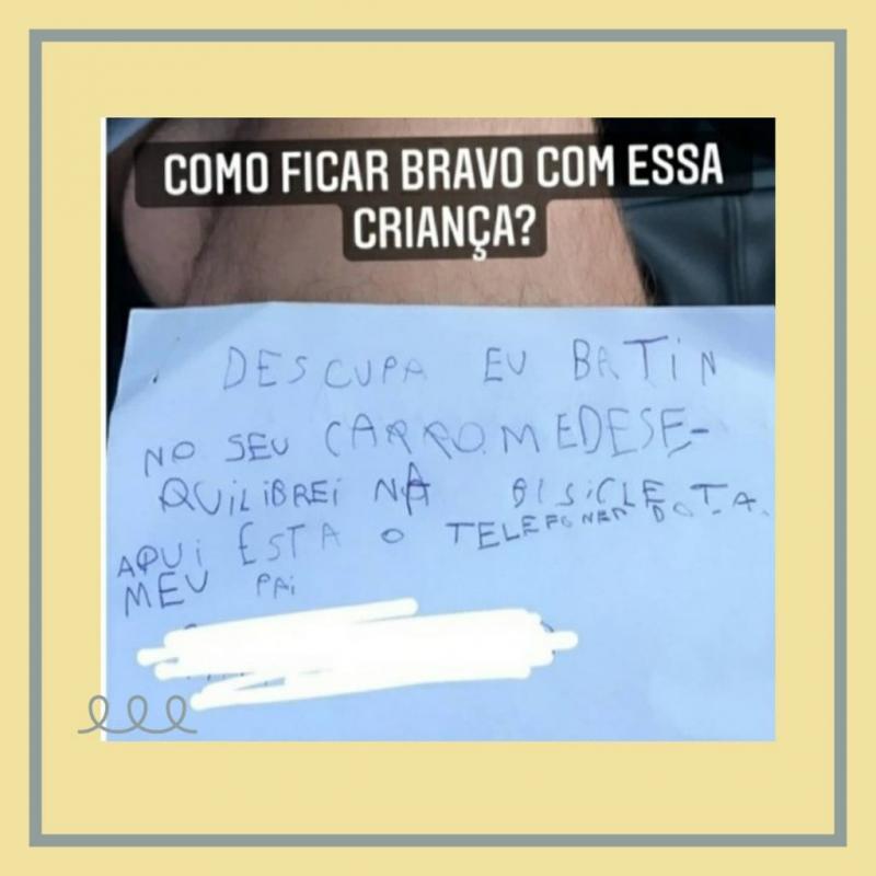 Benício o menino da bicicleta que deixou bilhete exemplar aos Brasileiros