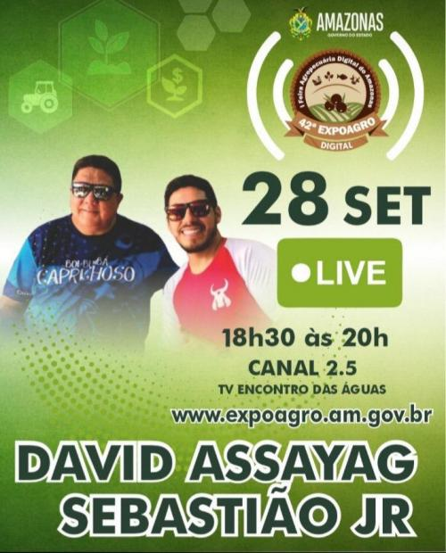 Expoagro Digital vai promover lives musicais ao som de toada e música sertaneja nos três dias de evento