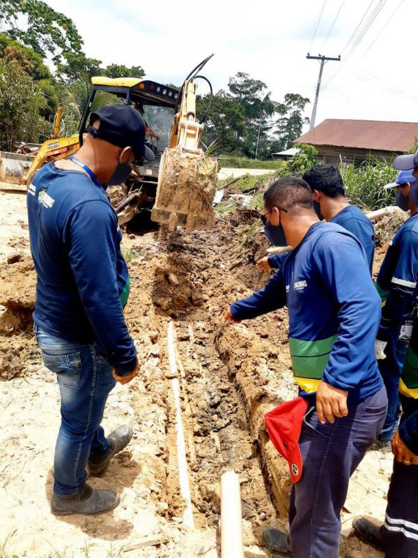 Cosama amplia rede de abastecimento de água em Atalaia do Norte e beneficia mais de 400 famílias na cidade