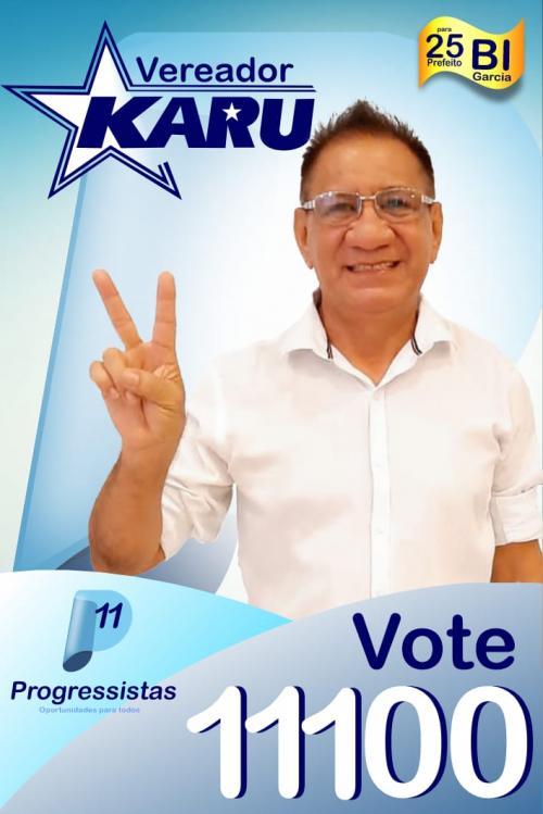 Karú Carvalho também é candidato a vereador em Parintins
