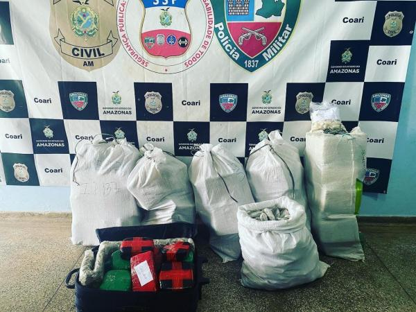 Cerca de 180 quilos de drogas apreendidas pela Base Arpão são incinerados em Coari
