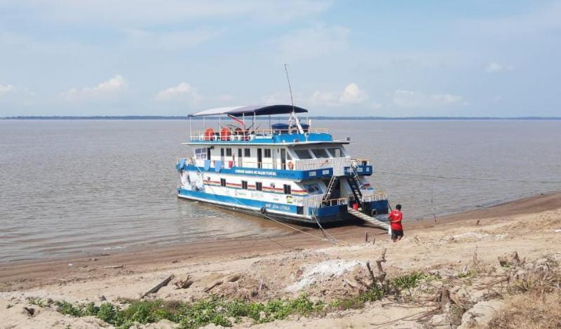 UBS Fluvial promove 400 atendimentos em viagem a comunidades no Rio Amazonas